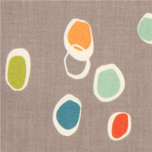 grey knot dot pattern organic fabric by birch from the USA