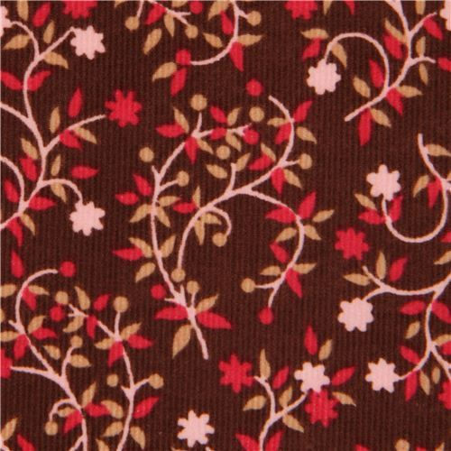 brown small flower corduroy fabric by Timeless Treasures