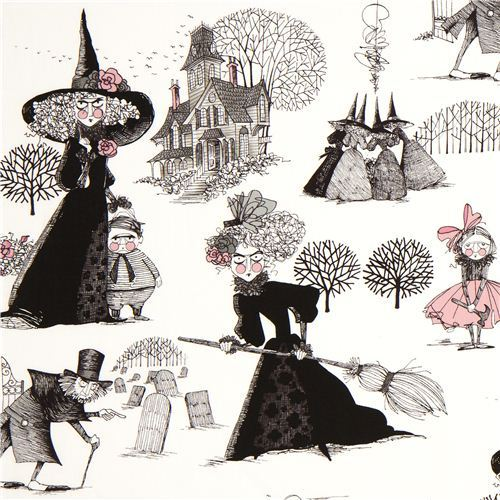 white witch fabric by Alexander Henry cemetery girl