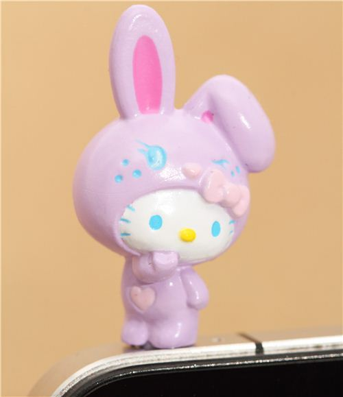 purple Hello Kitty bunny mobile phone plugy earphone jack