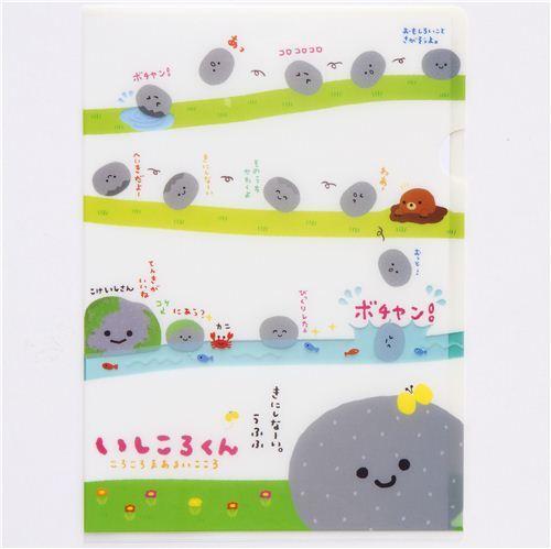 funny rolling boulder A4 plastic file folder kawaii