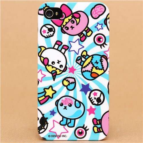 blue-white Mameshiba bean iPhone 4S / 4  hardcover case