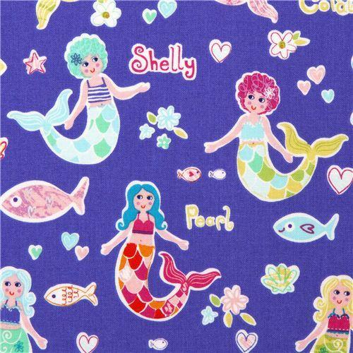 Michael Miller fabric Mermaid Friends mermaid fish