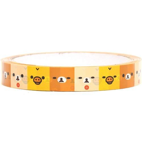 Rilakkuma bear & chick faces Deco Sticky Tape