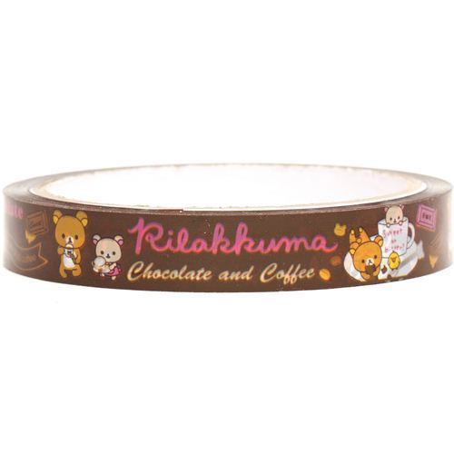 Rilakkuma bear Deco Sticky Tape chocolate coffee