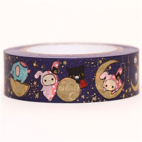 dark blue Sentimental Circus moon Washi Masking Tape
