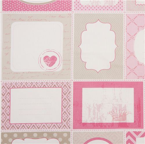 pink Riley Blake patchwork label fabric USA