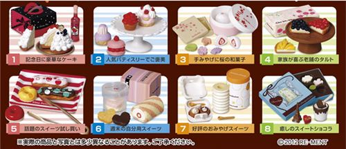 All the cute sweets from this set