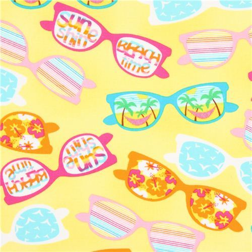yellow Timeless Treasures summer sunglasses fabric