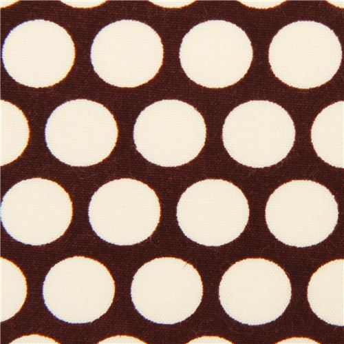 brown birch organic fabric from the USA with white dots