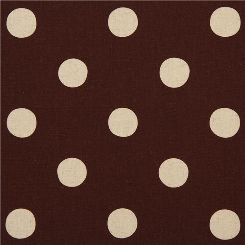 brown echino polka dot poplin fabric maruco