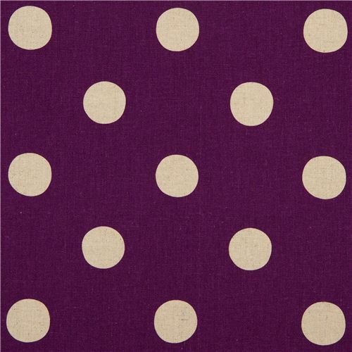 purple echino polka dot poplin fabric maruco