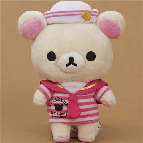 Rilakkuma plush toy white bear as sailor kawaii