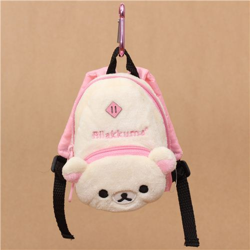 Rilakkuma white bear backpack plush charm