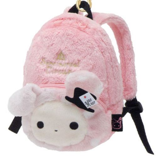 pink Sentimental Circus rabbit plush backpack bag