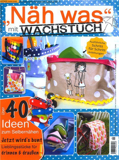 We are featured in the German magazine Näh was mit Wachstuch