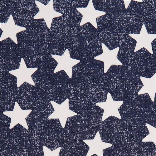 navy blue star fabric by Michael Miller Star Struck