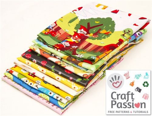 On craftpassion.com you can win 10 lovely Fat Quarters from our shop