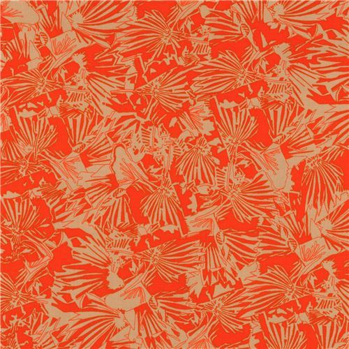 orange Robert Kaufman fabric flower shape Gleaned