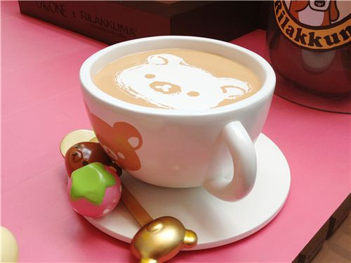 The very cute RIlakkuma coffee cup was one of the most popular photo motifs