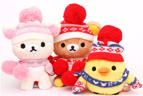 Rilakkuma Winter Knit Plush Toy Collection