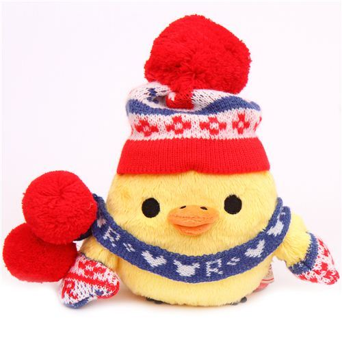 Rilakkuma winter knit yellow chick plush toy San-X Japan