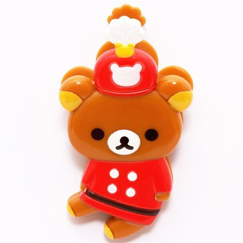Rilakkuma Wonderland brown bear marching band clip peg