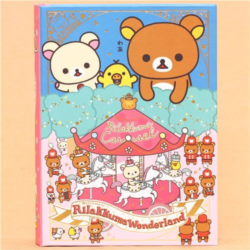 Rilakkuma Wonderland carousel book stationery set