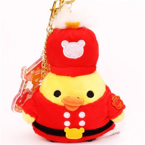 Rilakkuma Wonderland yellow chick marching band plush charm