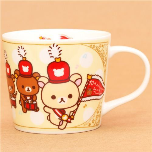 yellow Rilakkuma Wonderland cup bear marching band San-X