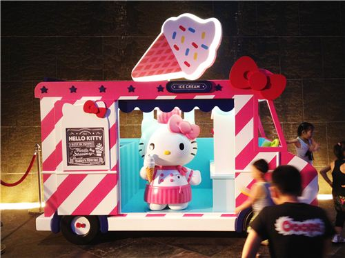 Super cute Hello Kitty ice cream truck