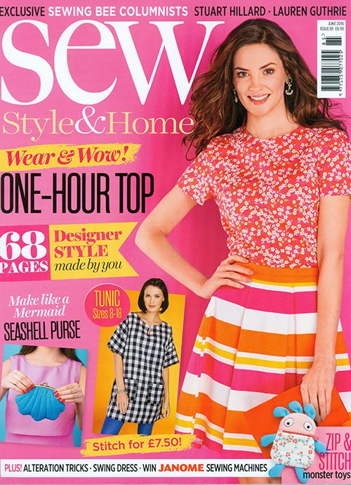Sew Magazine's June edition
