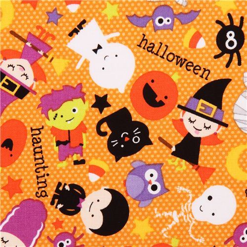 orange Riley Blake children fabric Halloween Parade