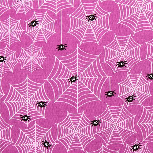 purple Riley Blake cobwebs fabric Halloween Parade
