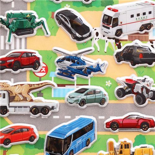 Tomica car vehicle truck 3D stickers for boys