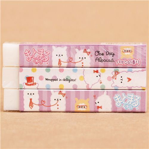 long alpaca eraser by Kamio from Japan