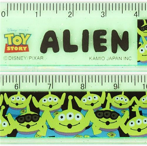 slim green Toy Story alien glitter ruler from Japan