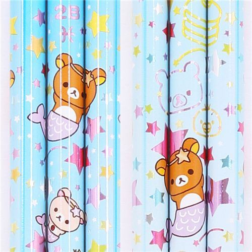light blue zodiac sign Pisces Rilakkuma bear pencil San-X