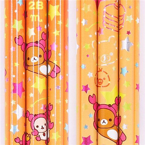 orange zodiac sign Scorpio Rilakkuma bear pencil San-X