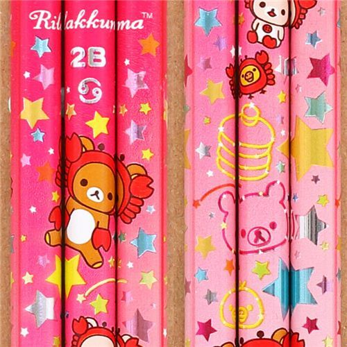 pink zodiac sign Cancer Rilakkuma bear pencil San-X
