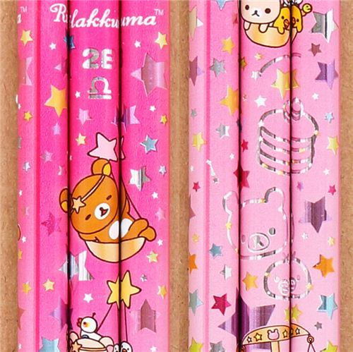 pink zodiac sign Libra Rilakkuma bear pencil San-X