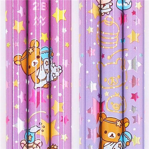 purple zodiac sign Aquarius Rilakkuma bear pencil San-X