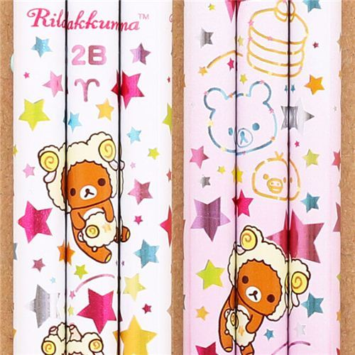 white zodiac sign Aries Rilakkuma bear pencil San-X
