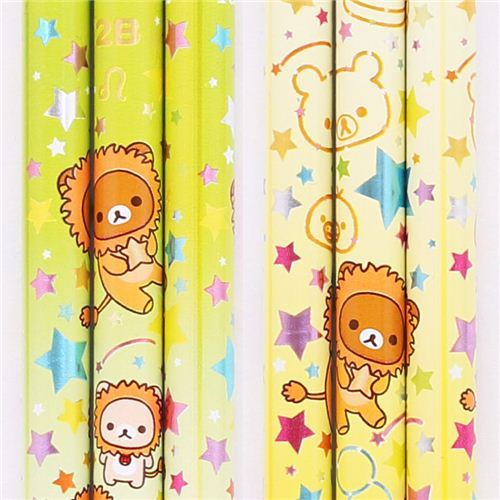 yellow-green zodiac sign Leo Rilakkuma bear pencil San-X
