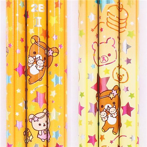 yellow zodiac sign Gemini Rilakkuma bear pencil San-X