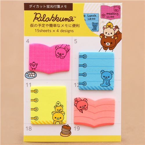 Rilakkuma small book shape note stickers