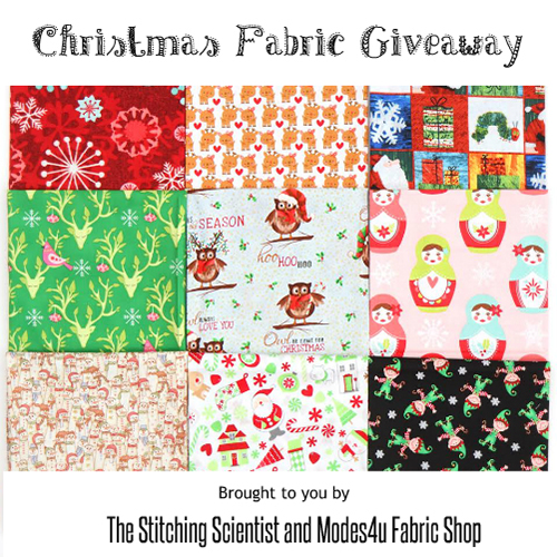 Christmas Fabric Giveaway with The Stitching Scientist (ends on Nov 2nd, 2016)