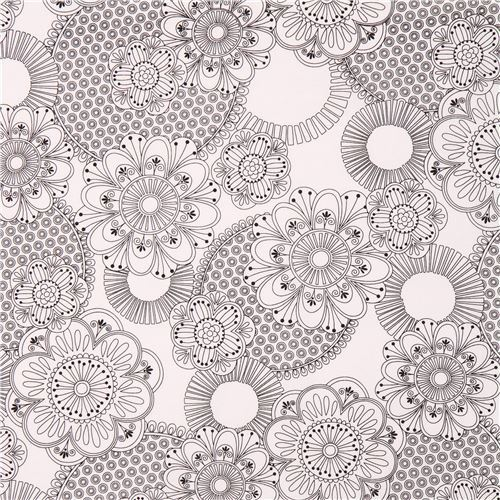coloring fabric with flower by Michael Miller