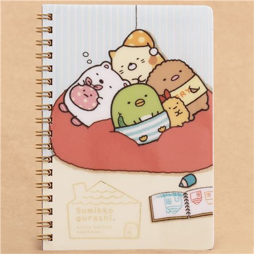 striped Sumikkogurashi shy animals house ring binder notebook