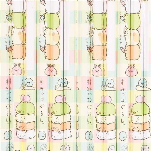 Sumikkogurashi stacked animals pencil set 12pcs from Japan